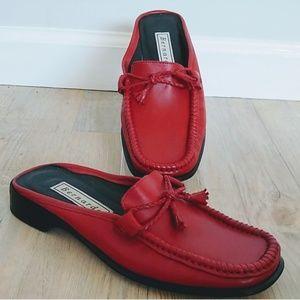 Bernardo mules clog slide red shoe